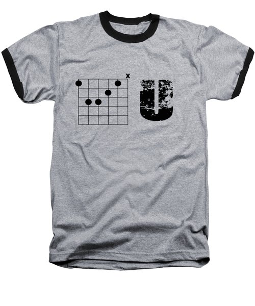 Baseball T-Shirt featuring the drawing F Chord U by Bill Cannon