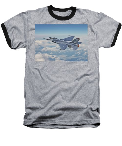 Baseball T-Shirt featuring the digital art F16 - Fighting Falcon by Pat Speirs