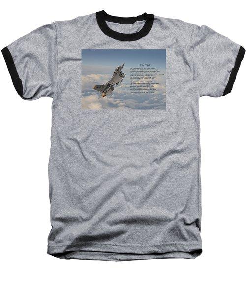 F16 - High Flight Baseball T-Shirt by Pat Speirs
