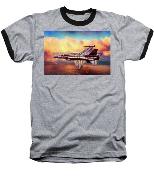 Baseball T-Shirt featuring the photograph F16c Fighting Falcon by Chris Lord