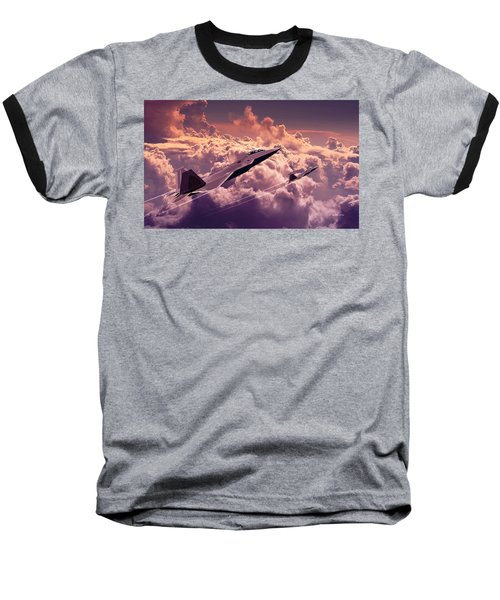 F22 Raptor Aviation Art Baseball T-Shirt