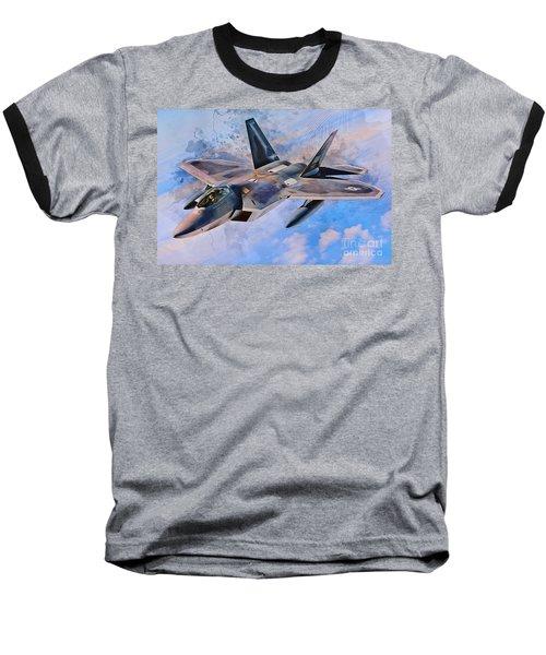 F22 Raptor Baseball T-Shirt
