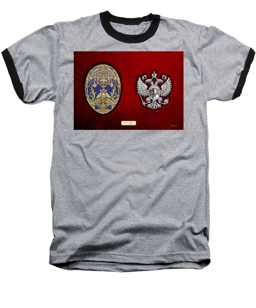 Faberge Tsarevich Egg With Surprise Baseball T-Shirt by Serge Averbukh