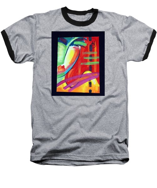 Face Baseball T-Shirt by Heather Roddy