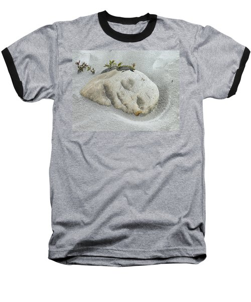 Face In The Sand At Baird Glacier Outwash Baseball T-Shirt