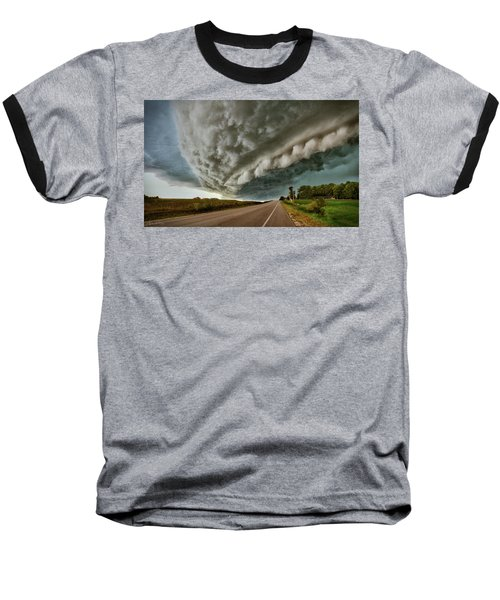 Face In The Storm Baseball T-Shirt
