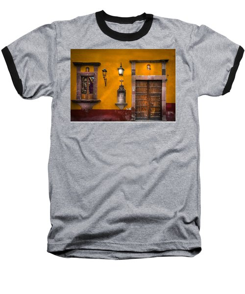 Face In The Window Baseball T-Shirt