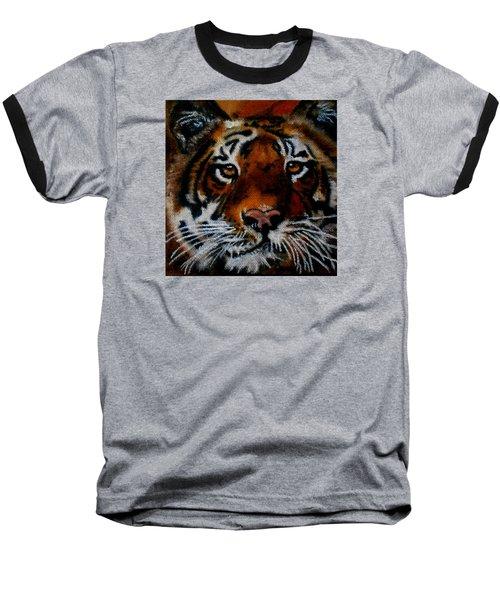 Face Of A Tiger Baseball T-Shirt