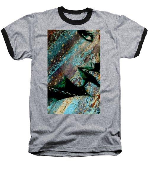 Face Painter Baseball T-Shirt by Greg Sharpe