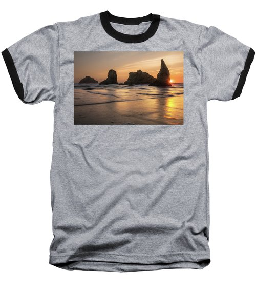 Face Rock Sunset Baseball T-Shirt