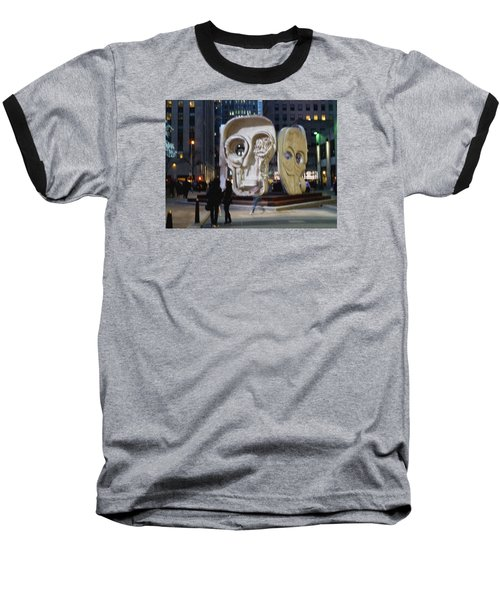 Faces Baseball T-Shirt
