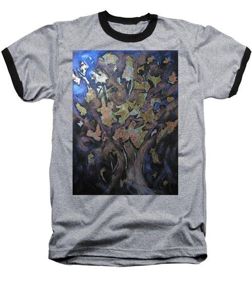 Faces Baseball T-Shirt by Roberta Rotunda