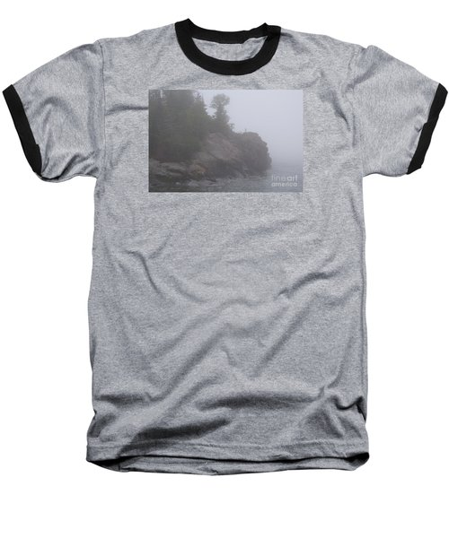 Baseball T-Shirt featuring the photograph Facing The Fog by Sandra Updyke