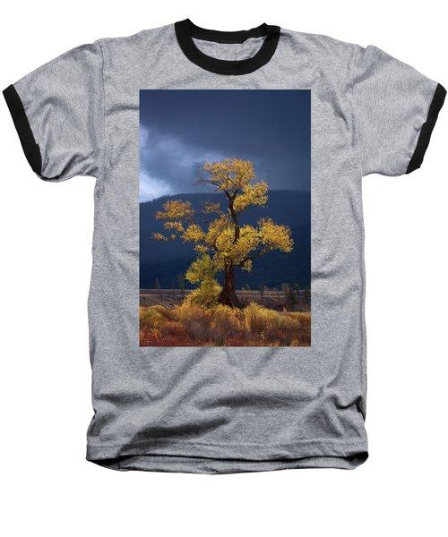 Facing The Storm Baseball T-Shirt by Edgars Erglis