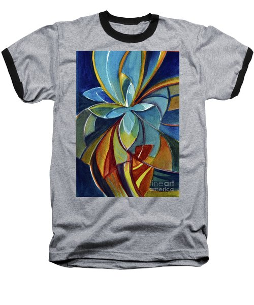 Fractal Flower Baseball T-Shirt