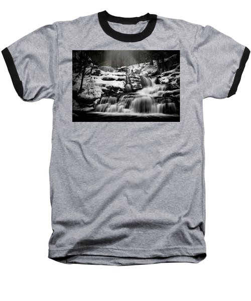 Baseball T-Shirt featuring the photograph Factory Falls In Winter by Chris Lord