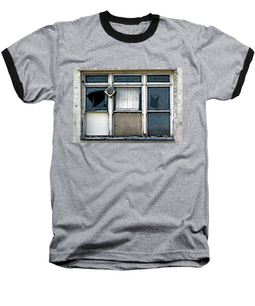 Baseball T-Shirt featuring the photograph Factory Windows by Ethna Gillespie