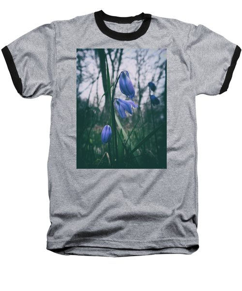 Fade Into The Blue Baseball T-Shirt by Karen Stahlros