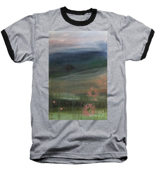Baseball T-Shirt featuring the painting Faded Days Gone By by Robin Maria Pedrero