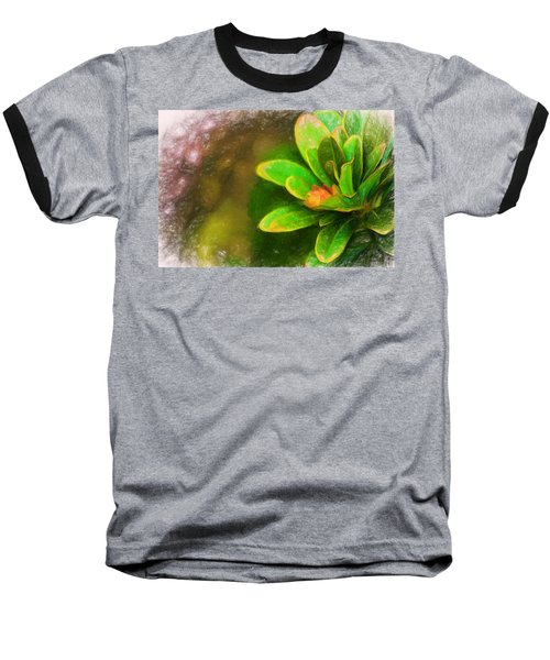 Faded Flora Baseball T-Shirt by Terry Cork