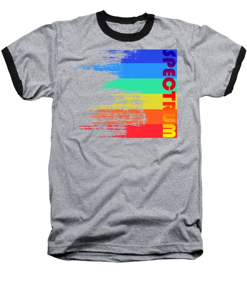 Faded Retro Pop Spectrum Colors Baseball T-Shirt