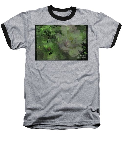 Faded Rose Baseball T-Shirt by Kathie Chicoine