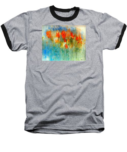 Faded Warm Autumn Wind Baseball T-Shirt by Lisa Kaiser