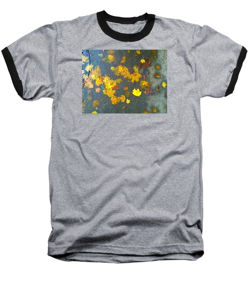 Fading Leaves Baseball T-Shirt by Suzanne Lorenz
