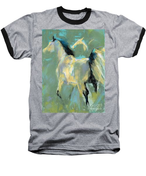 Fading Out To Three Baseball T-Shirt by Frances Marino