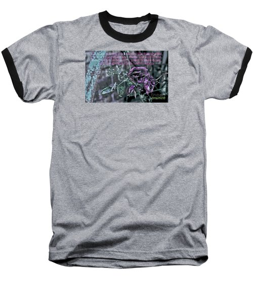 Baseball T-Shirt featuring the photograph Fading Rose by Sandy Moulder