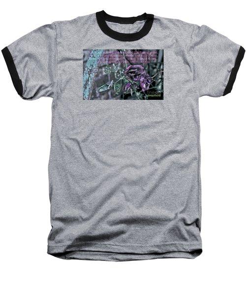 Fading Rose Baseball T-Shirt
