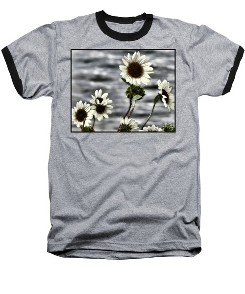 Baseball T-Shirt featuring the photograph Fading Sunflowers by Susan Kinney