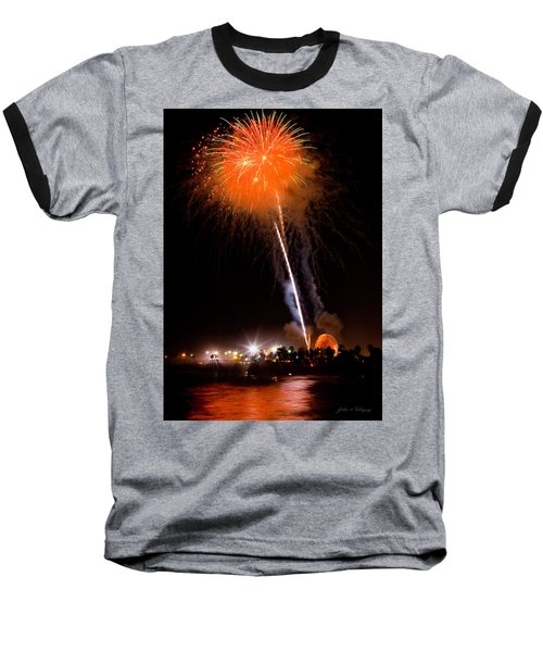 Fireworks As Seen From The Ventura California Pier Baseball T-Shirt