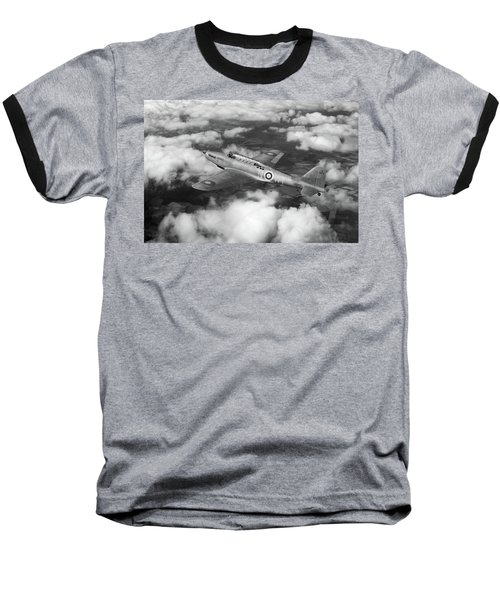 Baseball T-Shirt featuring the photograph Fairey Battle In Flight Bw Version by Gary Eason