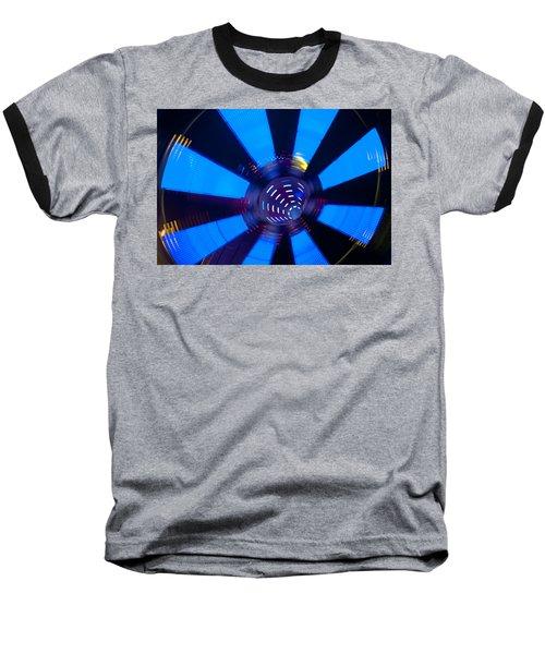 Fairground Abstract Vi Baseball T-Shirt by Helen Northcott