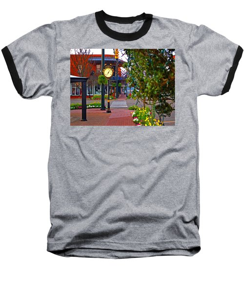 Fairhope Ave With Clock Down Section Street Baseball T-Shirt
