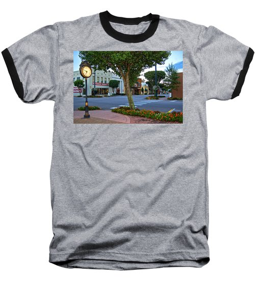 Fairhope Ave With Clock Baseball T-Shirt