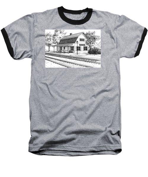 Fairview Ave Train Station Baseball T-Shirt
