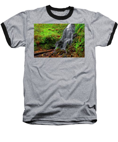 Baseball T-Shirt featuring the photograph Fairy Falls Oregon by Jonathan Davison