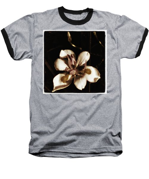 Baseball T-Shirt featuring the photograph Fairy Iris. A Butterfly Landed On My by Mr Photojimsf