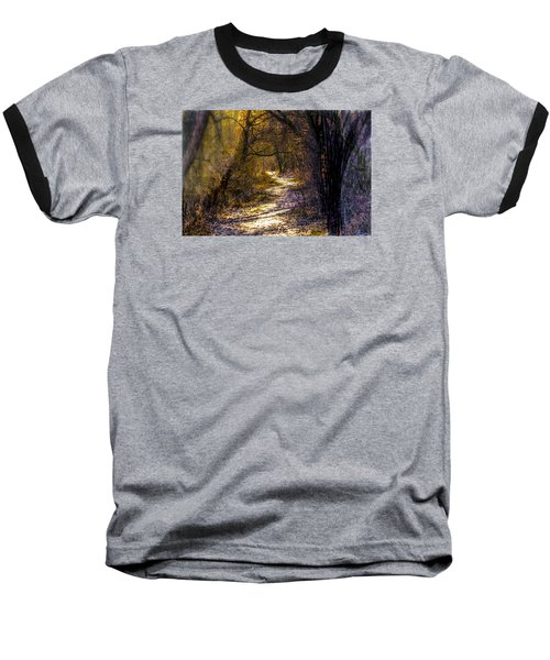 Fairy Woods Artistic  Baseball T-Shirt by Leif Sohlman