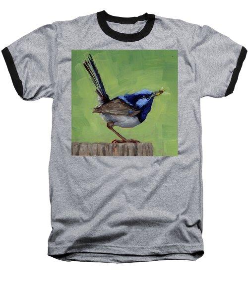 Fairy Wren With Lunch  Baseball T-Shirt