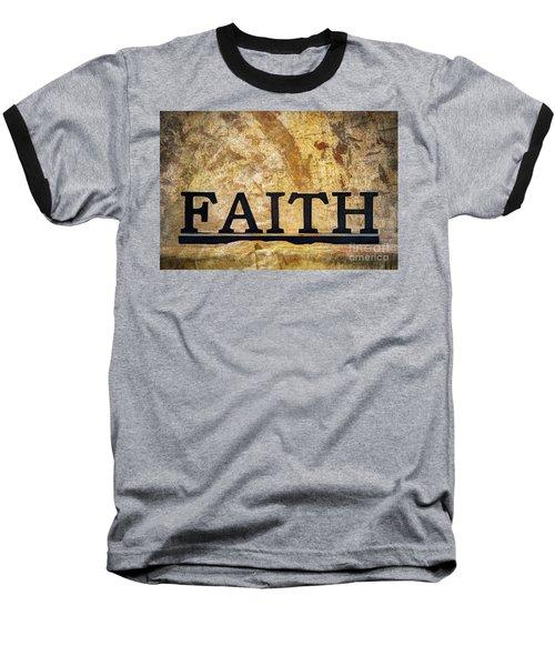Faith Baseball T-Shirt by Randy Steele