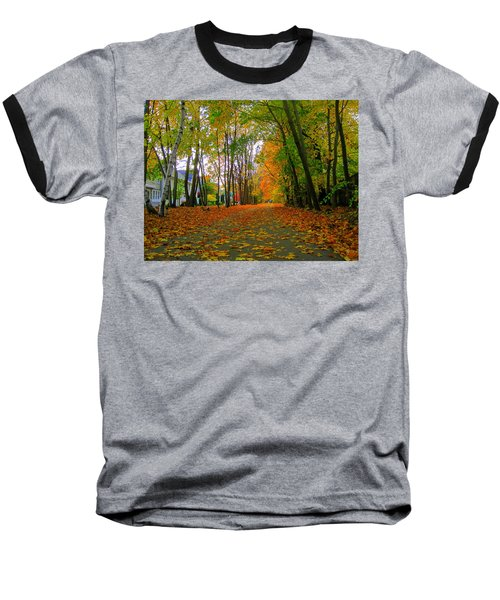 Fall Afternoon On The Rail Trail Baseball T-Shirt