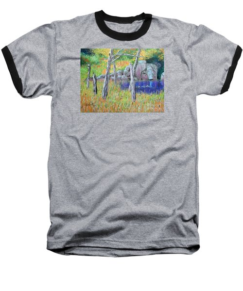 Fall  Along The Highwy  Baseball T-Shirt by Rae  Smith