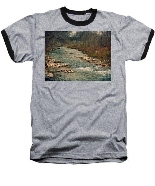 Fall Along The River Baseball T-Shirt