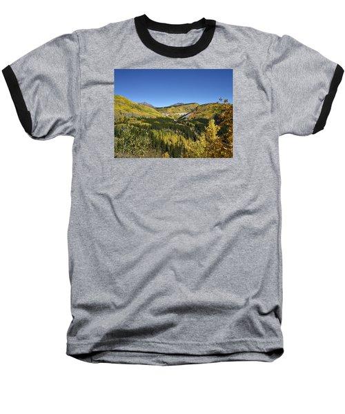 Fall Aspens In San Juan County In Colorado Baseball T-Shirt by Carol M Highsmith