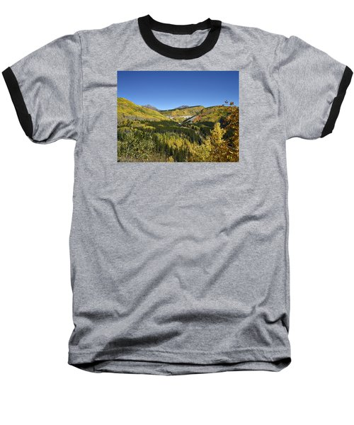 Fall Aspens In San Juan County In Colorado Baseball T-Shirt