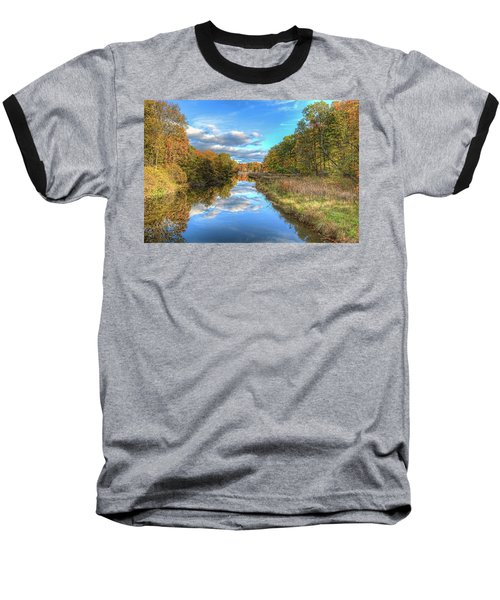 Fall At Brunswick Lake  Baseball T-Shirt