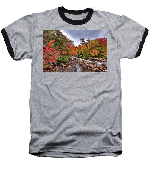 Baseball T-Shirt featuring the photograph Fall At Indian Rapids by David Patterson